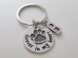 remembrance keychain paw print keychain remembrance keychain dog by jewelryeveryday