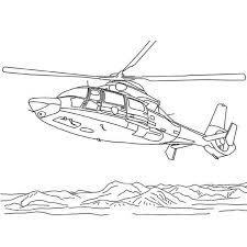 Coloriage Hélicoptère de Combat a Imprimer Gratuit