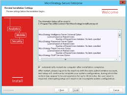 installing with the microstrategy installation wizard
