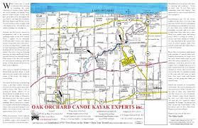 Kayak Map Oak Oakchard River Canoe And Kayak Rental