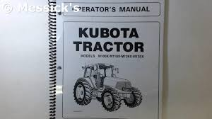 kubota m series owners manuals