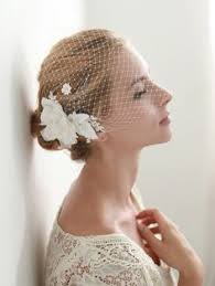 birdcage veil with flowers 9