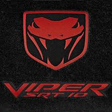 dodge viper snake amazon com dodge viper floor mats srt 10 black with viper