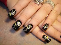 Pic Of Nail Art Designs Beautiful Dark Green Rose Nail Art Design The Rose Is Painted In
