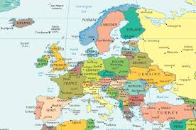 map of euorpe map of europe with cities and towns major tourist attractions maps