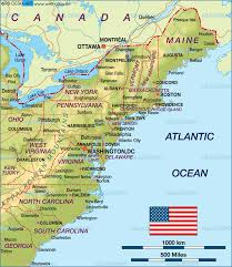 map of east coast states map of east coast usa united states map in the atlas of the