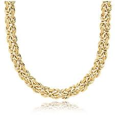 byzantine gold necklace images Byzantine necklace in 18k italian yellow gold blue nile