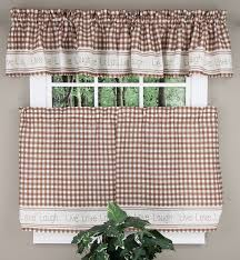 Gingham Curtains Blue Gingham Stitch Curtains Blue Lorraine Home Fashions Kitchen