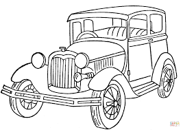 ford model a coloring page free printable coloring pages