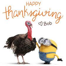 happy thanksgiving bob minion land