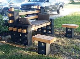 Diy Patio Furniture Cinder Blocks Cinder Block Furniture Backyard How To Use Cement Blocks In
