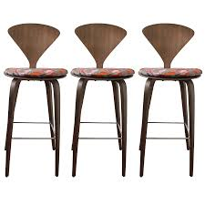 Viyet Designer Furniture Seating Norman Cherner Wood Leg Stools