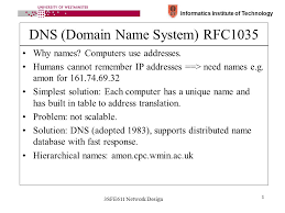 Domain Naming System Dns Tech by Informatics Institute Of Technology 3sfe611 Network Design 1 Dns
