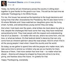 a thanksgiving message from president obama the obama diary