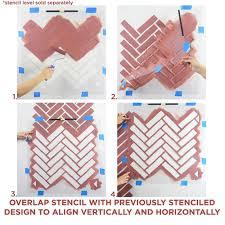 herringbone brick allover stencil reusable stencils for walls