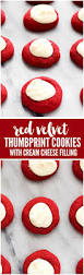 red velvet thumbprint cookies with cream cheese filling recipe