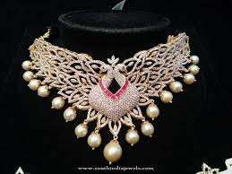 designer diamond sets designer peacock diamond choker necklace choker and