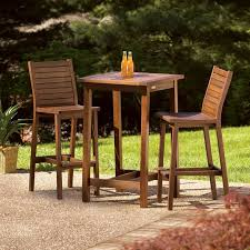 Bar Height Patio Table And Chairs Outdoor Bistro Table Set Bar Height With Patio