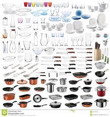 les ustensiles de cuisine les ustensiles de cuisine ont placé image stock image du bloc
