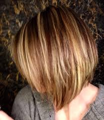 bob hair lowlights blonde highlights and brown lowlights layered angled bob loving