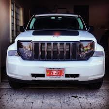 jeep white liberty 2010 white jeep liberty with black grill rims grill guard and