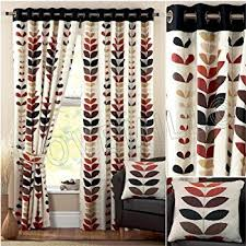 Black Curtains 90 X 54 Symmetry Aubergine Readymade Eyelet Lined Curtains 90