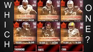 review on which thanksgiving player to choose in madden mobile 16