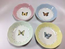 lenox butterfly meadow colors fruit dishes set of 4 blue 1 ebay