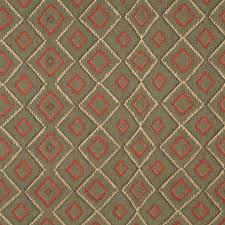Diamond Upholstery Green Beige And Red Diamond Southwest Upholstery Fabric By The Yard