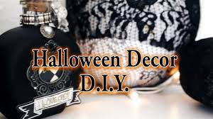 diy easy halloween decor witch potion bottle lace pumpkin and