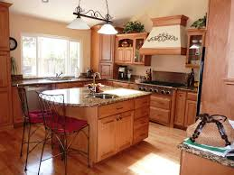 kitchen room cozy brown wooden l shaped kitchen island for your