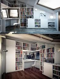 Home Loft Office Two Angles Scandinavian Loft Office Room