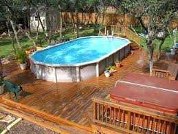 above ground pool small deck plans pictures of wooden above ground