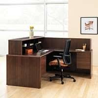 Hton Corner Desk 10700 Series L Shaped Reception Desk By Hon Smart Furniture