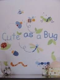 Boy Nursery Wall Decal As A Bug Blue Green Insects Baby Boys Nursery Wall Stickers