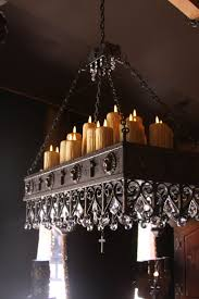 Candle Chandelier Pottery Barn Lighting Wonderful Candle Chandelier Non Electric For Modern