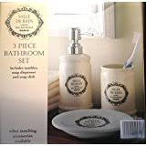 Shabby Chic Bathroom Accessories Sets 6 Piece Le Bain Shabby Chic Ceramic White Bathroom Accessories