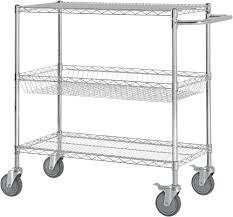 Commercial Wire Shelving by 3 Shelf Heavy Duty Commercial Grade Chrome Wire Shelving Cart