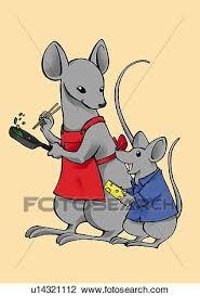 souris dans la cuisine clipart souris cuisine et regarder sien enfant cela tenue