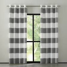 Grey Red Curtains Alston Ivory Grey Striped Curtains Crate And Barrel