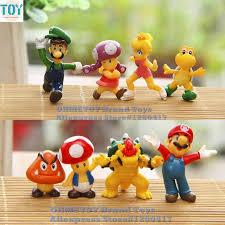 mario cake toppers ohmetoy 8pcs mario bros mini figure toys luigi koopa toad