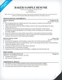 resume baker qualifications resume samples across all baker resume