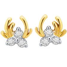 diamond earrings price avsar gold diamond earrings gold earrings homeshop18