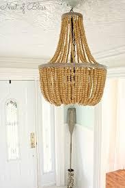 wood bead ceiling light interior breathtaking white wood bead chandelier with ceiling light