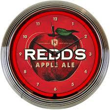 redds apple ale neon clock bar game room vintage style lighted