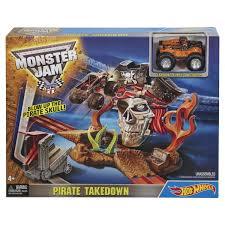 hotwheels monster jam trucks wheels monster jam pirate takedown playset kmart