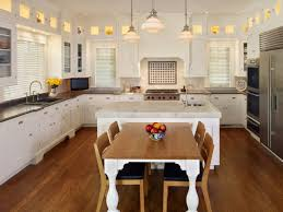 kitchen island table combo image for kitchen island table attached to wall and images