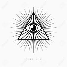 all seeing eye symbol on light background royalty free cliparts