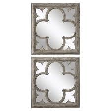 Quatrefoil Wall Sconce Distressed Quatrefoil Wall Mirrors U2013 Set Of 2 Scenario Home
