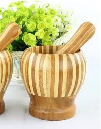 mortier de cuisine acheter mortier écologique en bambou et pilon cuisine diners délicat
